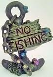 Decoración Ancla ''No Fishing''.