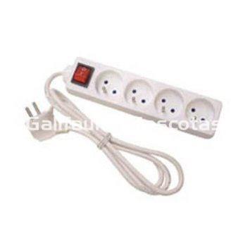 Regleta con interruptor 4 tomas cable alargador base de for Regletas de enchufes